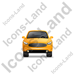 Executive Car Front Yellow Icon, PNG/ICO, 256x256