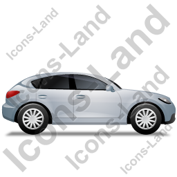 Executive Car Right Grey Icon, PNG/ICO, 256x256