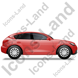 Executive Car Right Red Icon, PNG/ICO, 256x256