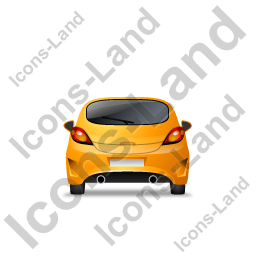 Hatchback Back Yellow Icon