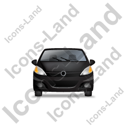 Hatchback Front Black Icon