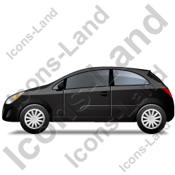 Hatchback Left Black Icon, PNG/ICO, 256x256