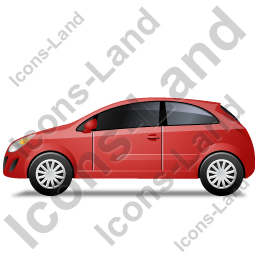 Hatchback Left Red Icon