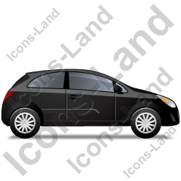 Hatchback Right Black Icon, PNG/ICO, 256x256