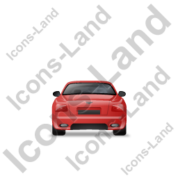 Luxury Car Back Red Icon, PNG/ICO, 256x256
