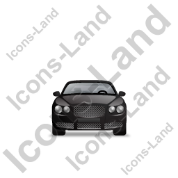 Luxury Car Front Black Icon