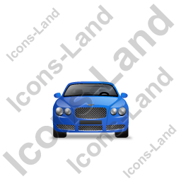 Luxury Car Front Blue Icon, PNG/ICO, 256x256
