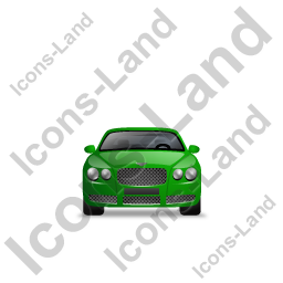 Luxury Car Front Green Icon