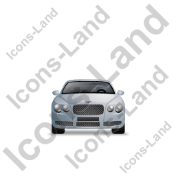 Luxury Car Front Grey Icon, PNG/ICO, 256x256