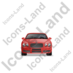 Luxury Car Front Red Icon