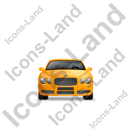 Luxury Car Front Yellow Icon