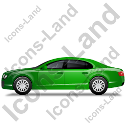 Luxury Car Left Green Icon