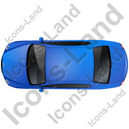 Luxury Car Top Blue Icon