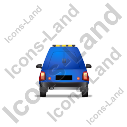 Roadside Assistance Car Back Blue Icon