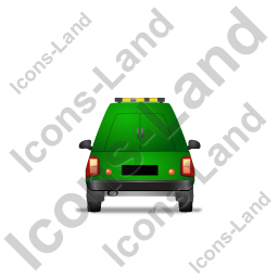 Roadside Assistance Car Back Green Icon