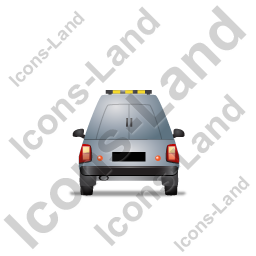 Roadside Assistance Car Back Grey Icon, PNG/ICO, 256x256