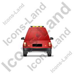 Roadside Assistance Car Back Red Icon