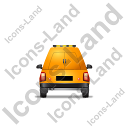 Roadside Assistance Car Back Yellow Icon, PNG/ICO, 256x256