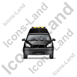 Roadside Assistance Car Front Black Icon, PNG/ICO, 256x256