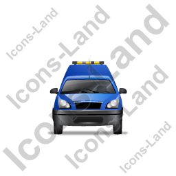 Roadside Assistance Car Front Blue Icon
