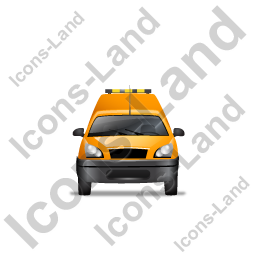 Roadside Assistance Car Front Yellow Icon