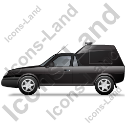 Roadside Assistance Car Left Black Icon, PNG/ICO, 256x256