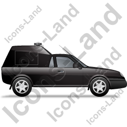 Roadside Assistance Car Right Black Icon