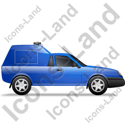 Roadside Assistance Car Right Blue Icon