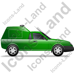 Roadside Assistance Car Right Green Icon