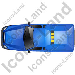 Roadside Assistance Car Top Blue Icon