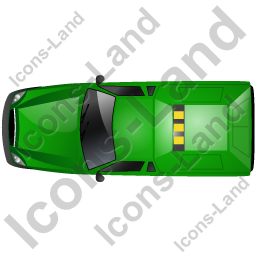 Roadside Assistance Car Top Green Icon