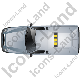 Roadside Assistance Car Top Grey Icon