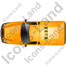 Roadside Assistance Car Top Yellow Icon