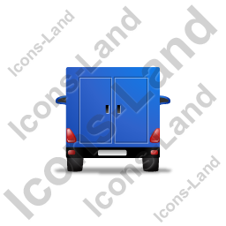 Service Van Back Blue Icon