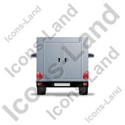 Service Van Back Grey Icon
