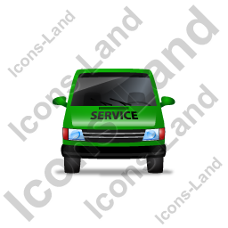 Service Van Front Green Icon
