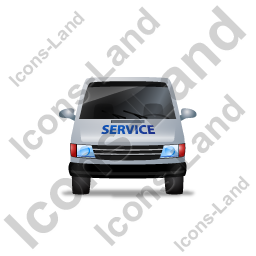 Service Van Front Grey Icon