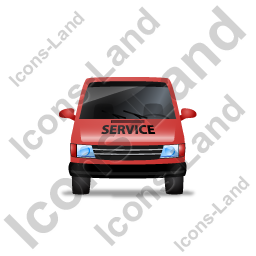 Service Van Front Red Icon