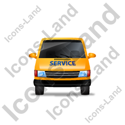 Service Van Front Yellow Icon