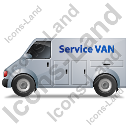 Service Van Left Grey Icon