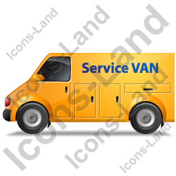 Service Van Left Yellow Icon