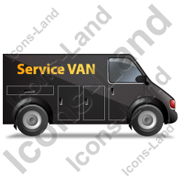 Service Van Right Black Icon, PNG/ICO, 256x256