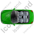 Cabriolet Top Green Icon, PNG/ICO, 48x48