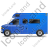 Camper Van Left Blue Icon