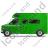 Camper Van Left Green Icon, PNG/ICO, 48x48