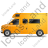 Camper Van Left Yellow Icon, PNG/ICO, 48x48