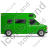 Camper Van Right Green Icon, PNG/ICO, 48x48