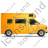 Camper Van Right Yellow Icon, PNG/ICO, 48x48