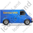 Service Van Right Blue Icon