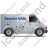 Service Van Right Grey Icon